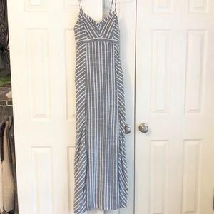 Athleta striped maxi dress
